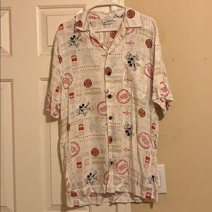 Men's Button Down, short sleeve, Disney Shirt